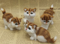 antique toy box - Chinese folk crafts New Year gift static simulation model simulation animal fur cat plush toys Crafts Decoration