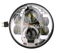 Wholesale 7 quot Inch Round W LM CREE LED Headlight DOT Approved Hi Lo DRL Black Model for Jeep Wrangler Harley Davidson H6024 quot Hea