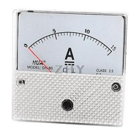 Wholesale DH Model Panel Current Gauge Analog Meter Ammeter DC A