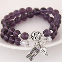 abacus charm - High End Bohemia Costume Jewelry Beads Abacus Tulip Ball Crystal Wrist Accessories Elastic Charm Multilayer Bracelets Bangles For Women