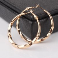 Wholesale GULICX Fashion Big Hip Hop Round Earrings for Women k Gold Plated Large Circle Piercing Hoop Earring Dropship Suppliers E420