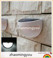 ac fence - YON Waterproof Outdoor Sensor Lighting Solar Powered LED Lights Fence Roof Gutter Garden Wall Decoration Lamps