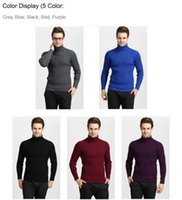 Wholesale Sell like hot cakWinter Thick Warm Cashmere Sweater Men Turtleneck Men Brand Mens Sweaters Slim Fit Pullover Men Knitwear Double collar
