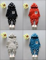 Reference Images baby s clothes - 2016 New Autumn Baby Two Pieces Set Fashion Boys Hooded Clothing Boys and Girls Hoodie and Coat Trousers Sets