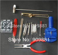 Wholesale 16 Piece Deluxe Watch Repair Tool Kit With Watchband Link Pin Remover High Quality Hand Tools