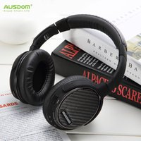 Wholesale AUSDOM M05 Bluetooth Headphones Deep Bass Wireless Stereo Headband Headset Handsfree Music Player with mm Aduio Cable
