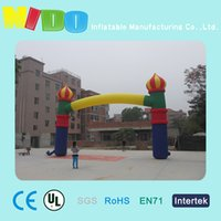 Wholesale children s paradise site landscape layout props inflatable arches Russia Castle Theme inflatable colorful arches factory outlets