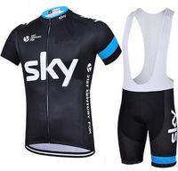 bib culotte - 2016 fluor green sky cycling jersey quick dry Ropa Ciclismo bicycling shirts bike bibs gel cycle Maillot Culotte full set