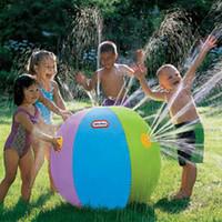 balls fountain water - SUMMER CHILDREN OUTDOOR SWIMMING BEACH BALL INFLATABLE BALL WATER FOUNTAIN BALL Bumper Ball Zorb Ball