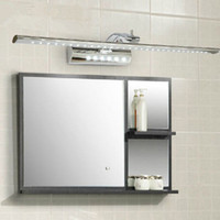 bathroom mirrors with lights - 55cm W Bathroom LED Mirror Light AC85 V SMD5050 Stainless Steel Dressing Table Sconces LED Wall Lamps with Switch