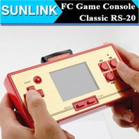 Wholesale FC Pocket inch Video Game Color LCD Screen Games Player Station bit Handheld Game Console with Games Double Handle Model Support