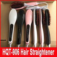 Cheap FAST Hair Straightener brush Straight Styling Tool NASV Beautiful star Flat Iron Electronic comb straighteners US AU EU UK Plug HQT-906