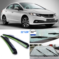 Wholesale Auto parts quot quot front windscreen Brand new windshield wiper blades Soft Rubber WindShield Wiper Blade For Honda Civic