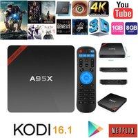 Wholesale DHL Newest Amlogic S905 TV Box A95X Nexbox Android Box G G Quad core G Wifi KODI Smart Media Player