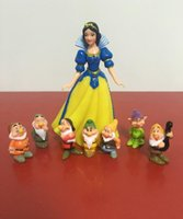 Wholesale Snow white and the seven dwarfs figurine doll car ornaments ice
