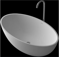Wholesale 1760x1030x550mm Solid Surface Stone CUPC Approval Bathtub Oval Freestanding Corian Matt Or Glossy Finishing Tub RS6556