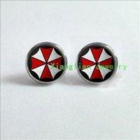 bad earrings - Umbrella Corporation Earrings Resident Evil geekery Jewelry Earrings jewelry glass Cabochon Earrings Breaking Bad BR BA ES