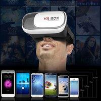 Wholesale VR Headset Head Mount Plastic D VR BOX Version VR Virtual Reality Game Glasses Helmet Rift Google Cardboard D Movie for Smart Phone