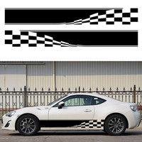 auto racing stripes - Checkered Flag Auto Graphic decal Vinyl car truck body racing stripe sticker