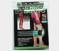 Wholesale Original quality Beactive Pressure Point Brace For Back Pain with box Therapeutic Unisex Left Right Knee Pads Supports Leg Be Active DHL