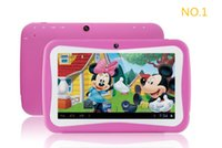 Wholesale 100pcs inch Kids Education Tablets RK3026 Dual core Android Bluetooth MB GB Kids Games Apps mini tablet pc