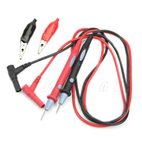 Wholesale Clip Multi Meter - Wholesale-20A 1000V Clamp Multi Meter Multimeter Probe Test Lead + Alligator Clips