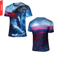 Wholesale Men s fashion Marvel Comics Superhero casual T shirts Thor Quick Drying Tshirt Fitness Running t shirt Crossfit Tees Plus Size