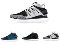 knit fabric - Y3 Mens sports shoes Tubular Nova Pack Tubular Prime knit PK sneaker outdoor athletic women trainer black white grey size