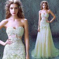 beaded fairy lights - Fairy Style Elie Saab Mermaid Lace Appliques Evening Dresses Sexy Sweetheart Illusion Bodice Corset Waist Floor Length Prom Gowns