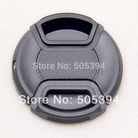 Wholesale 52mm center pinch Front Lens Cap Cover for all mm lens Filter with cord Canon lens cap Brand New