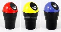 Wholesale New Plastic Car Trash Bin Car Trash Can Garbage Dust Sundries Trash Basket Yellow Blue Black Red Gray