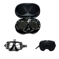 Wholesale gopro diving mask soft liquid silicon scuba diving mask with clear tempered glass top snorkel mask for adult diving