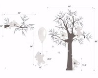 balloons sky art - 2016 New Design Different Cute Koala Bear And Tree Wall Stickers Koala pulled Balloon Vinyl Decals Baby Bedroom Wall Art Drcor