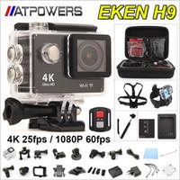 al por mayor ir hd-EKEN acción a distancia de la cámara Ultra HD 4K WiFi cámara del deporte de 1080p / 60fps 2.0 LCD 170D Lente leva del casco Ir Cámara impermeable Pro