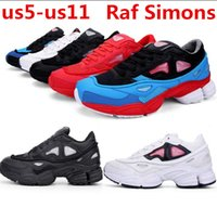 Wholesale Raf Simons Consortium Ozweego Fashion Sneakers Mens and Womens Running Shoes Black White Red Size US5 US11