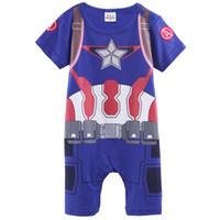 america onesie - Baby Boys Captain America Funny Costume Romper Infant Short Sleeve Onesie