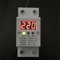 Wholesale Self Dual over under voltage protection device LCD display fully automatic over voltage protection