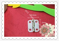 Wholesale 50pcs Hardware accessories degree hinge tin gift packing box hinge installed mm mm flat hinge gift box