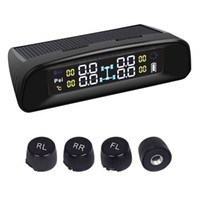 Wholesale Universal Wireless LCD display Solar Power Tire Pressure Monitoring System external sensor passenger car TPMS