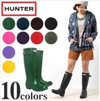 Wholesale 2016 Hunter Boots Women Wellies Rainboots Ms Glossy Hunter Wellington Rain Boots Wellington Knee Boots Fast Delivery DHL free