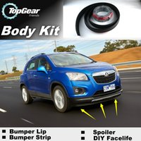 Wholesale Bumper Lip Lips For Holden Trax Front Skirt Deflector Spoiler For Car Tuning The Stig Recommend Body Kit Strip