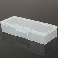 Wholesale New Arrival Pink Or Clear Translucence Case Box Holder for Nail Art Brushes Storage cm In Stock