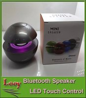 Cheap High Quality BT118 Mini Touch Control Wireless Bluetooth Speaker 3D Surround Stereo Speaker Multi-Color LED Light Flash Hands-free Speaker