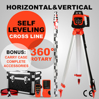 Wholesale ROTARY RED LASER LEVEL TRIPOD M STAFF