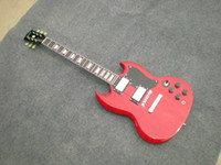 Wholesale G custom shop SG Standard Lightly Aged Electric Guitar Vintage Red
