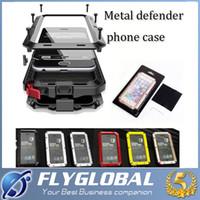 2016 impermeabilizan el caso móvil de aluminio duro de la suciedad de la caja del teléfono celular de la prueba de la suciedad cubre para el iphone 4 / 4s 5 / 5c / 5s 6 / 6s 6s más DHL libre