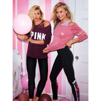 teen clothes - New Arrival VS Love Pink Women Long Sleeve T Shirt Tumblr Harajuku Tracksuit Teen Girls Tee Tops Clothing Plus Size