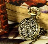 acrylic wind chimes - New Trumpet gold pocket watch necklace vine jewelry wind chimes fashion pocket watch