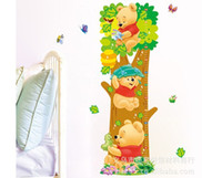 al por mayor calcomanías de decoración de la habitación-Decorar los árboles de habitaciones y de los niños del patrón del oso desprendibles de la pared pegatinas de medida para los cabritos sitio Vinilos decorativos Vinilos Inicio LM2001