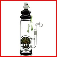 best barrels - Two Function Inch Clear Glass Ball Shaped Chamber Inner Barrel Perc Recycler Oil Rig Glass Bong Water Pipe Best Bong DGC1205